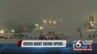 Bogus Basin opens for night skiing