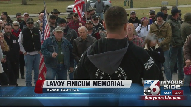 Finicum supporters hold memorial at statehouse