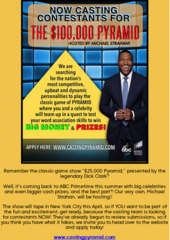 $100,000 Pyramid looking for contestants