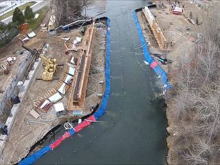 VIDEO: Drone shows progress on Broadway Bridge