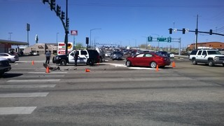 Multi-vehicle crash slows traffic