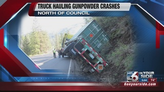 No injuries reported after semi truck crash