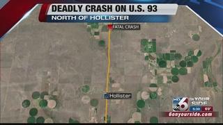 Deadly crash on US 93 north of Hollister