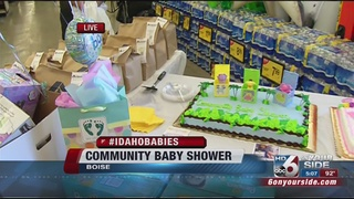 10th annual community baby shower is underway boise id
