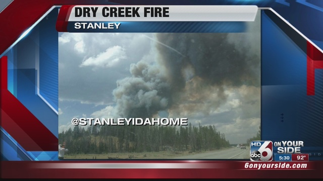 Wildfire burning near Stanley Lake prompts closures