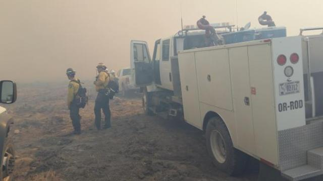 Cherry Road Fire slowing down