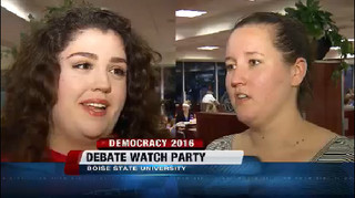 Students react to Monday's presidential debate