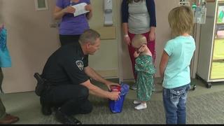 Sick kids receive unexpected visit