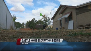 Excavation underway at Castle home