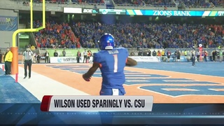 Wilson was out of CSU game with an injury