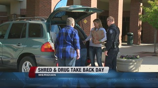 Huge turnout for Meridian's Take Back Drug Day
