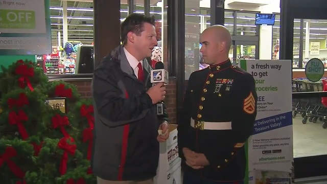 Toys for Tots collection in Weston