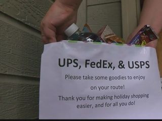 Boise woman leaves treats for delivery workers