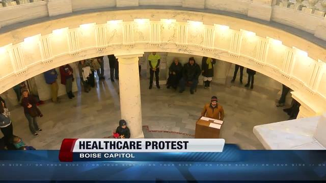 Healthcare rally held at Boise statehouse