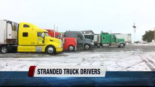 I-84 road closures leave truckers stranded