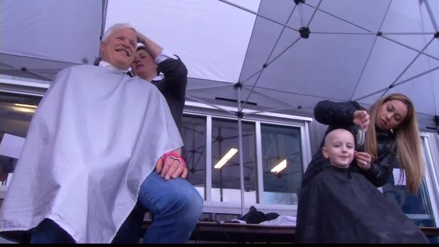 Boise firefighters shave heads for good cause