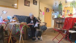 Elderly woman credits dog for saving her life