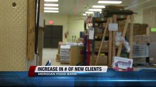 Increase in new clients at Meridian Food Bank
