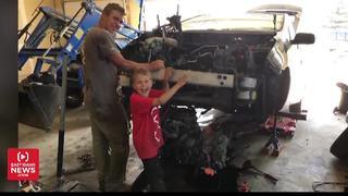 8-year-old Sugar City boy saves his dad