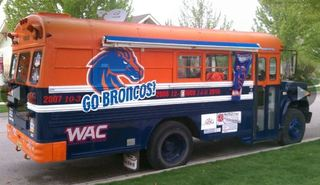 For Sale: Boise State's famous tailgating bus