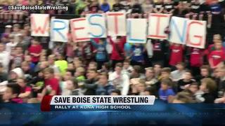 Rally in Kuna supports former BSU Wrestling team