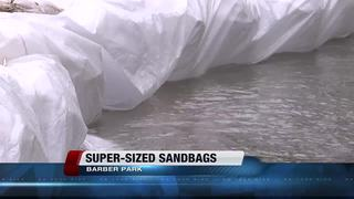 Super sacks to help w/water flow at Barber Park