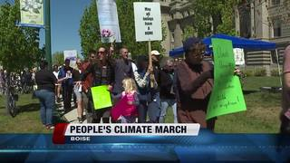 Differing opinions at Idaho Climate March