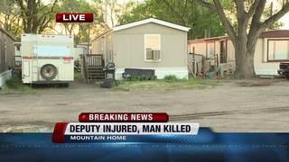 Man dead, deputy injured in Mountain Home