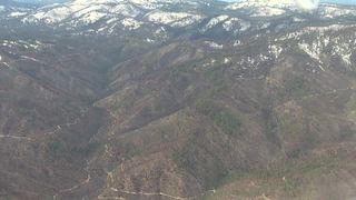 Aerial tour of Pioneer Fire burn scar