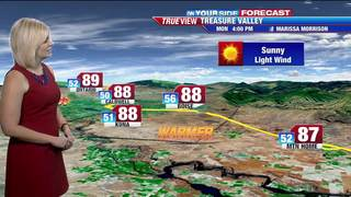 A warm and sunny Memorial Day in store