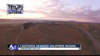 Crews fight Bugle Boy Fire near Firebird Raceway