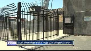 Path across Swan Falls Dam will close at night