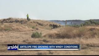 Antelope Fire grows to 10,000 acres due to winds