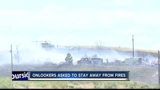 Onlookers asked to avoid active fire scenes
