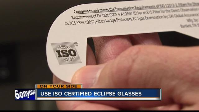 Unsafe eclipse glasses in circulation