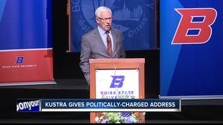 Kustra gives politically-charged address