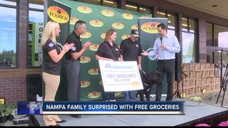 Nampa family surprised with free groceries
