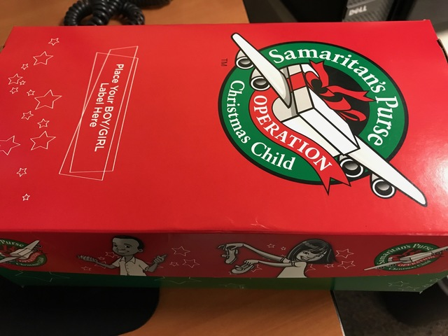 Operation Christmas Child: Collecting for Samaritan's Purse shoe boxes