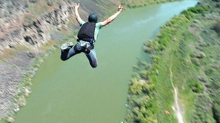 Base jump off the Perrine Bridge in Twin Falls