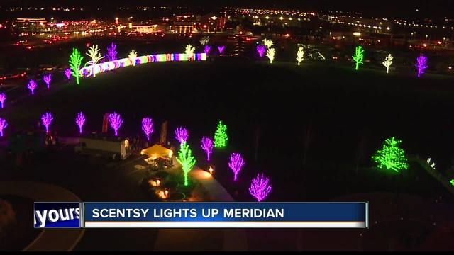 scentsy lights up their campus for christmas - Light For Christmas