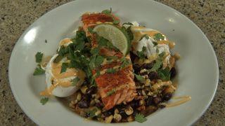 Salmon for breakfast at Moe Joe's