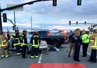 Four injured in early morning crash near Eagle