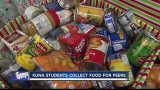 Kuna students collect food donations for peers