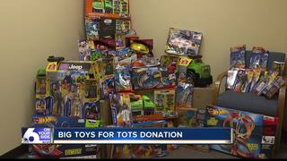 Mattel makes big Toys for Tots Donation