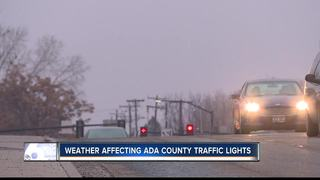 Morning fog affecting traffic lights