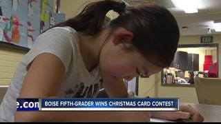 Fifth-grader wins Christmas Card Contest