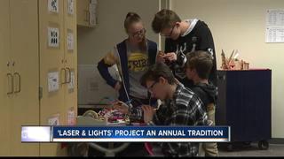 Engineering students create LED light displays