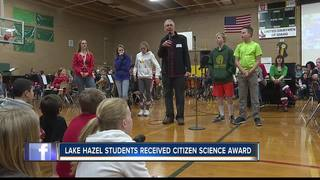 Boise students receive Citizens Science trophy