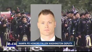 Nampa police honor fallen Washington deputy