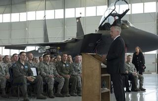 Secretary of Defense visits MHAFB
